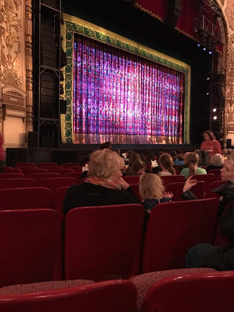 Seating view for Cadillac Palace Theater Section Orchestra L Row L Seat 29