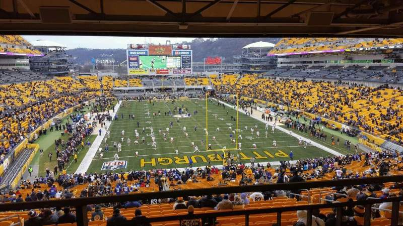 Seating view for Heinz Field Section NC-007 Row A