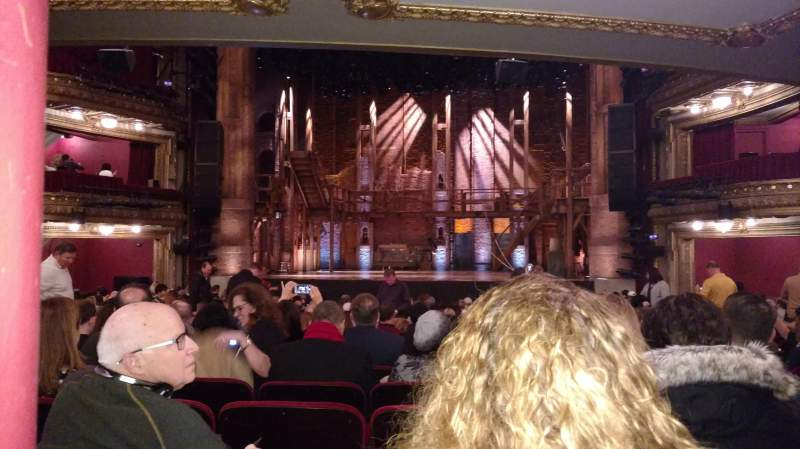 Seating view for CIBC Theatre Section Orchestra C Row W Seat 116