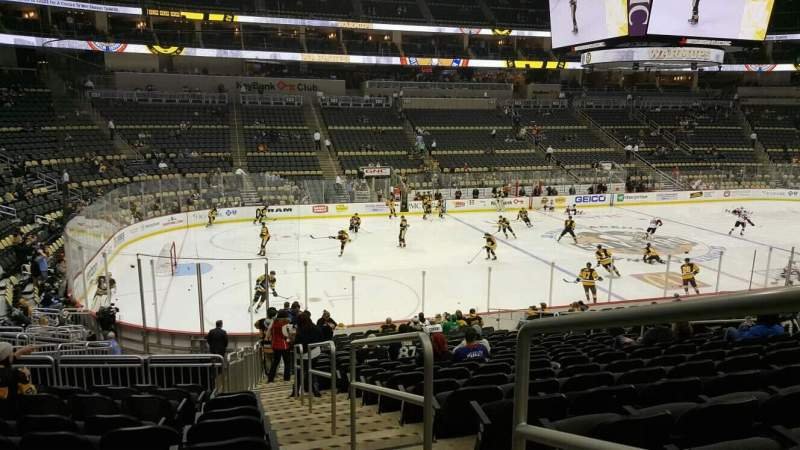 Seating view for PPG Paints Arena Section 115 Row w Seat 1