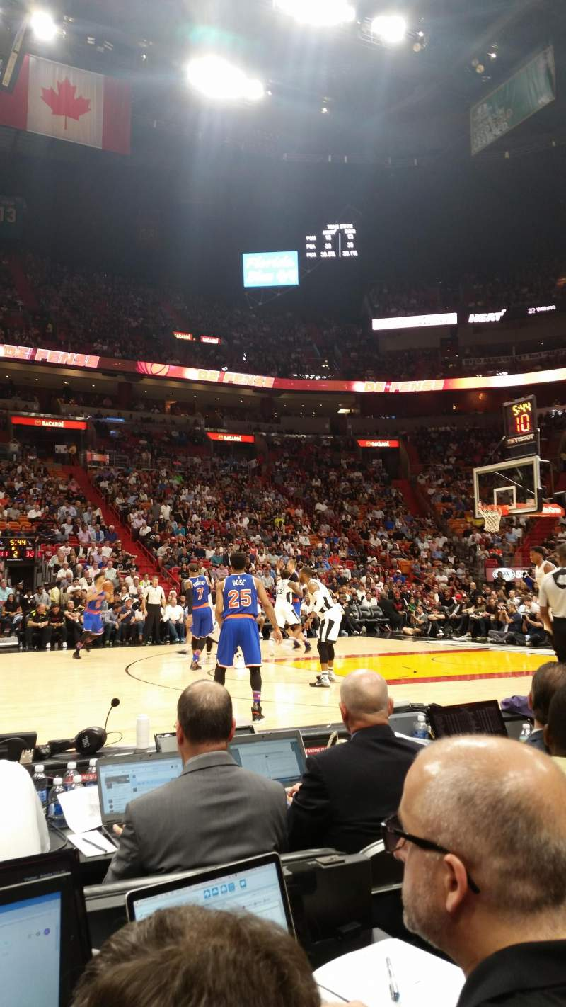 Seating view for American Airlines Arena Section Flagship North Row 3 Seat 5