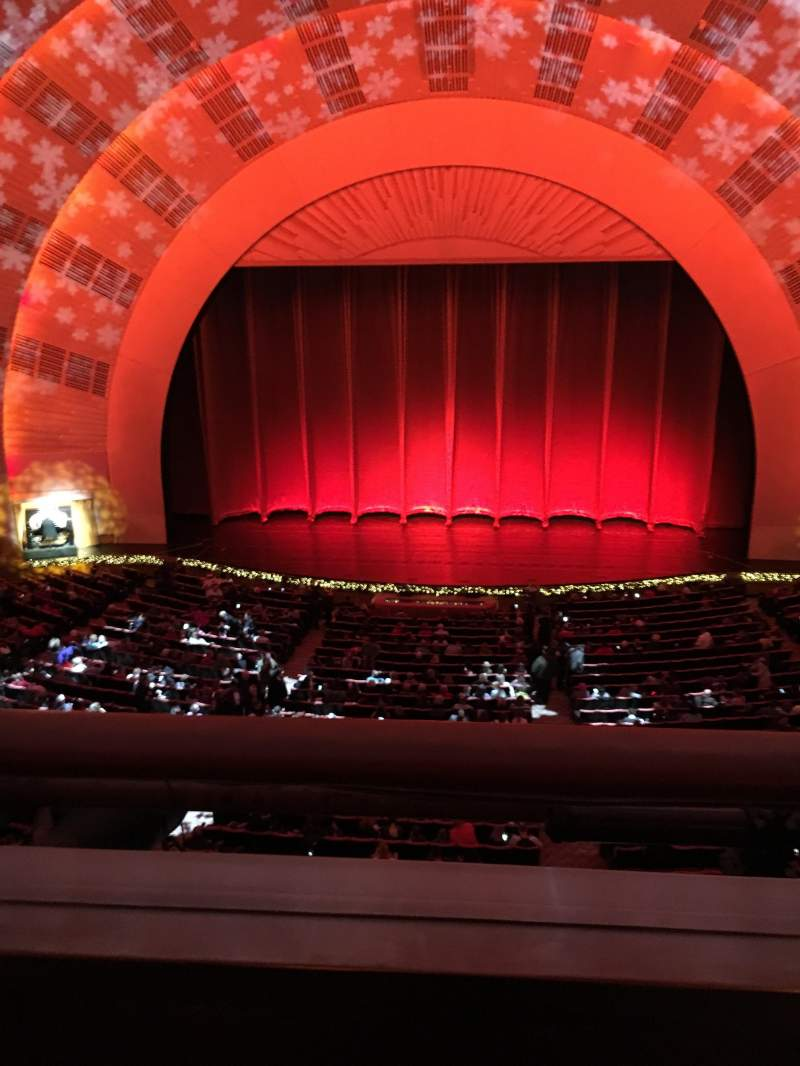 Seating view for Radio City Music Hall Section 2nd Mezzanine 4 Row A Seat 402