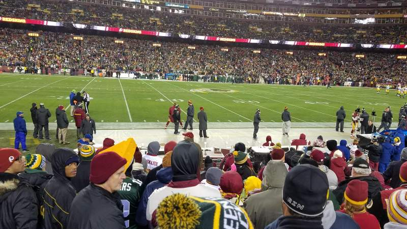 Seating view for FedEx Field Section 120 Row 7 Seat 8