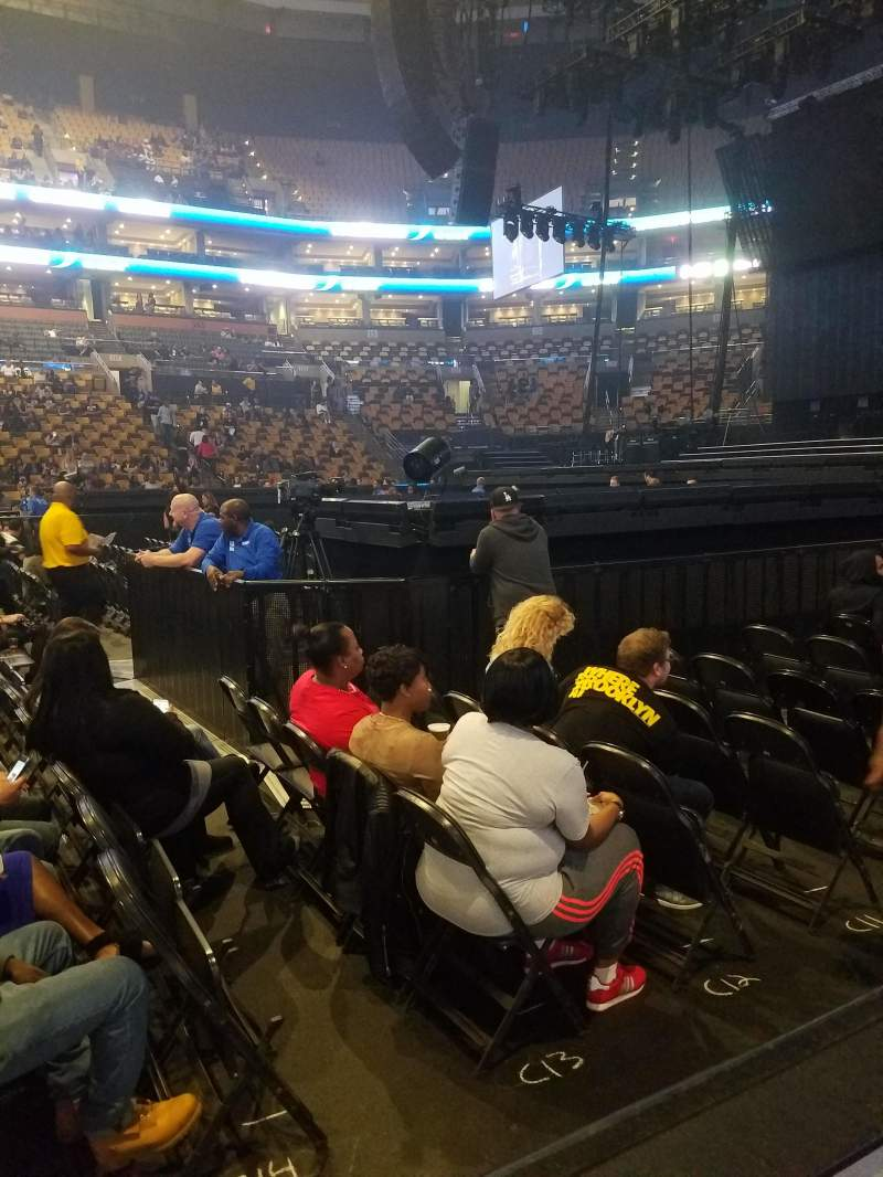 Seating view for TD GARDEN Section Loge 21 Row 1