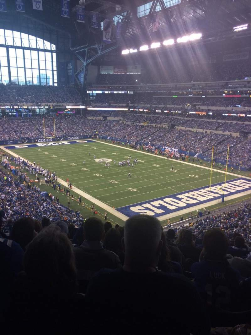 Seating view for Lucas Oil Stadium Section 431 Row 9 Seat 9