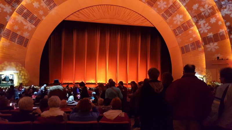Seating view for Radio City Music Hall Section Orchestra 5 Row G Seat 501-504