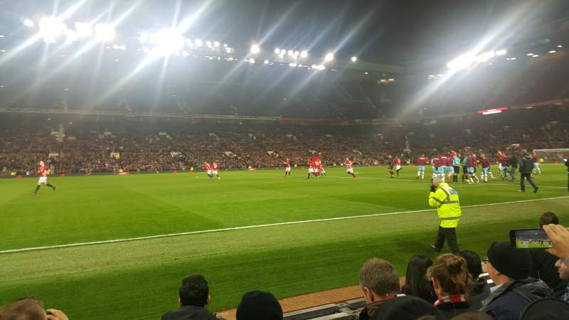 Seating view for Old Trafford Section Sth123 Row EE Seat 176