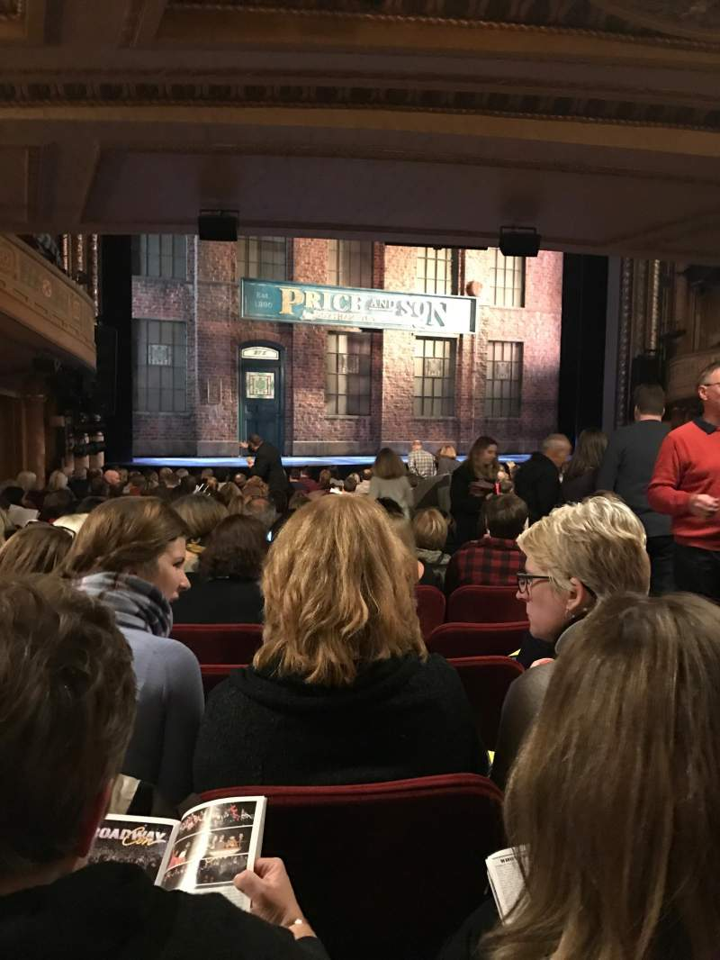 Seating view for Al Hirschfeld Theatre Section ORCHL Row T Seat 9
