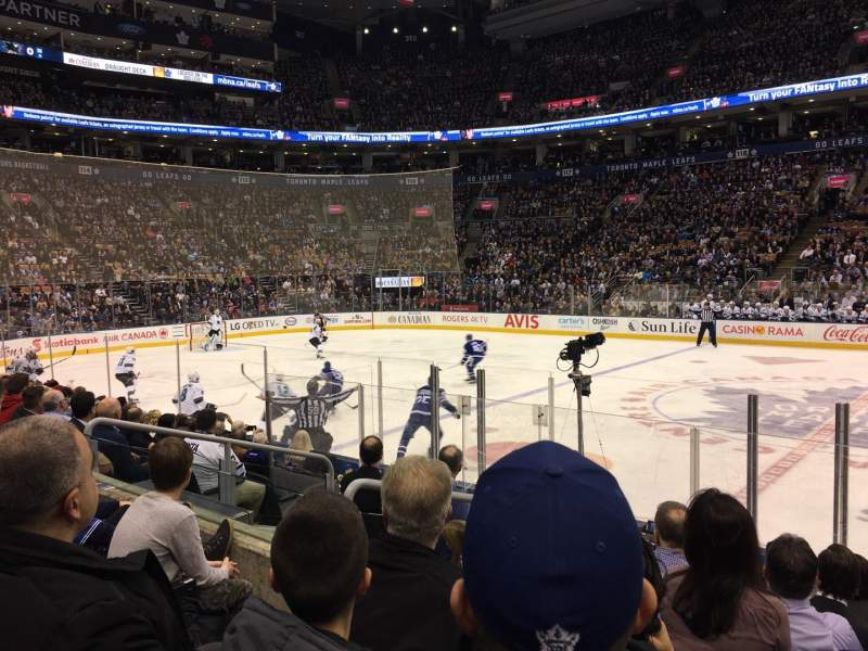 Seating view for Scotiabank Arena Section 108 Row 9 Seat 6