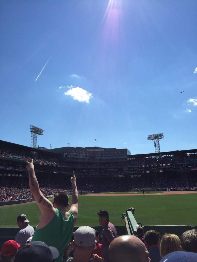 Seating view for Fenway Park Section Bleacher 42 Row 8 Seat 1