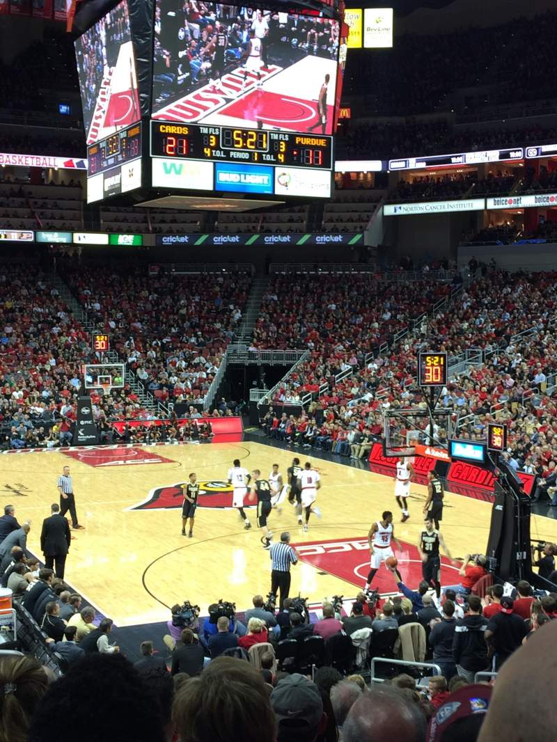 Seating view for KFC Yum! Center Section 112 Row V Seat 17