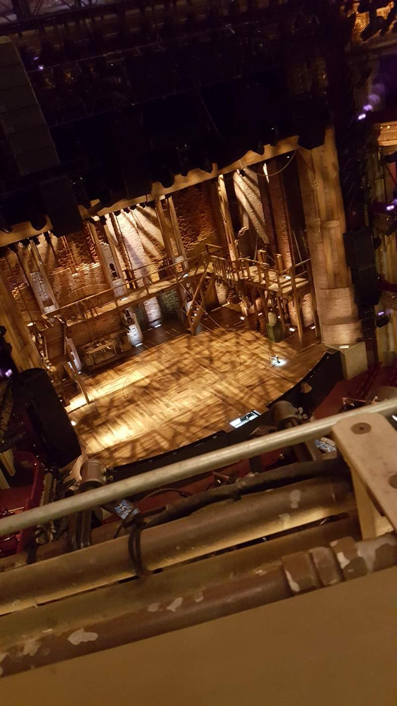 Seating view for CIBC Theatre Section Balcony L Row A Seat 1