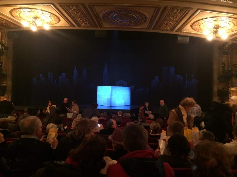 Seating view for Walter Kerr Theatre Section Orchestra C Row R Seat 101