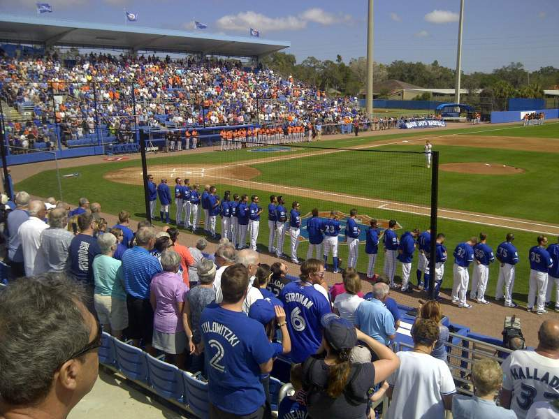 Seating view for Dunedin Stadium Section 202 Row 2 Seat 15