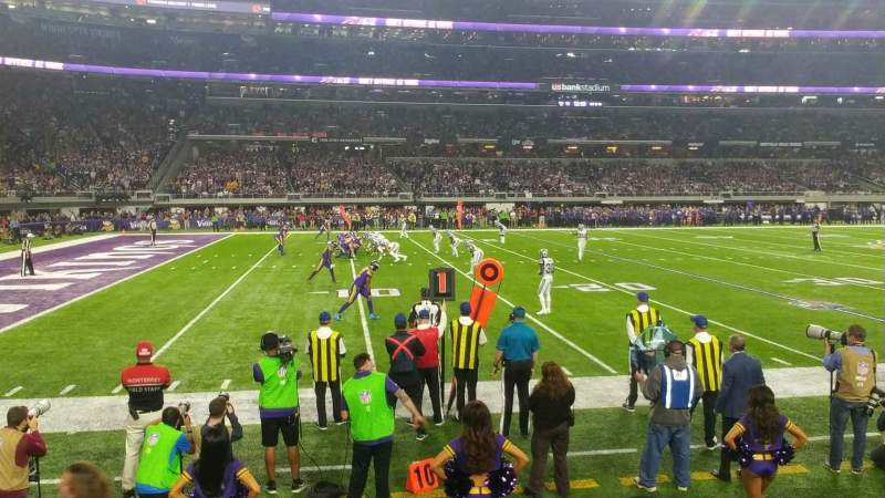 Seating view for U.S. Bank Stadium Section 112 Row 2 Seat 13
