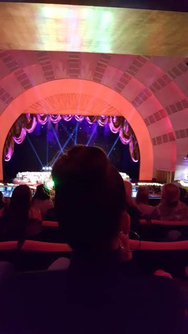 Seating view for Radio City Music Hall Section 2nd Mezzanine 4 Row H Seat 408