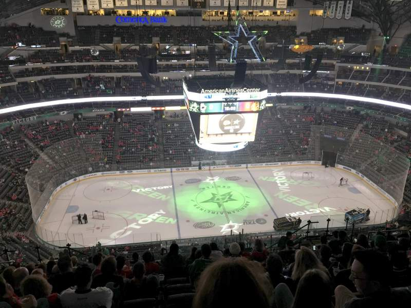 Seating view for American Airlines Center Section 327 Row T Seat 12
