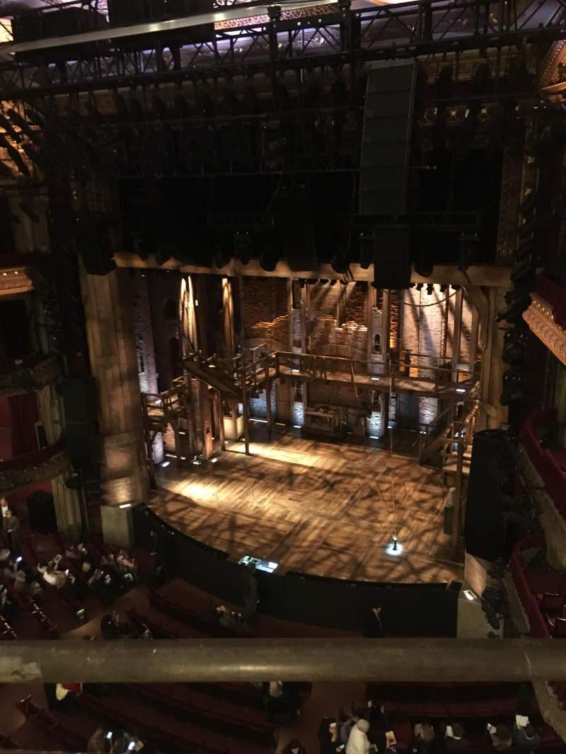 Seating view for CIBC Theatre Section Balcony R Row A Seat 6