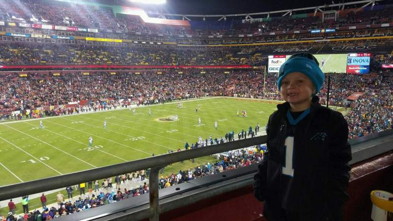 Seating view for FedEx Field Section 326 Row 1 Seat 1