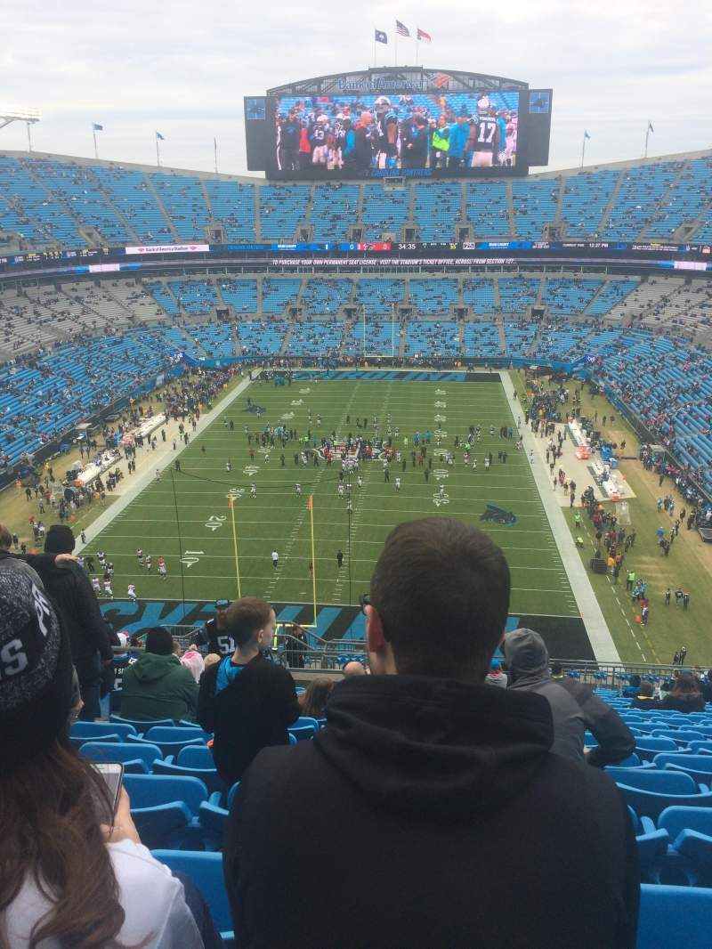 Seating view for Bank of America Stadium Section 527 Row 17 Seat 21