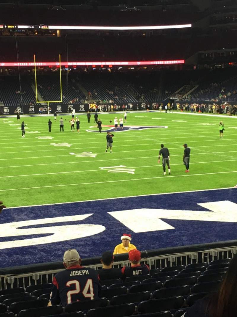 Seating view for NRG Stadium Section 118 Row M Seat 20