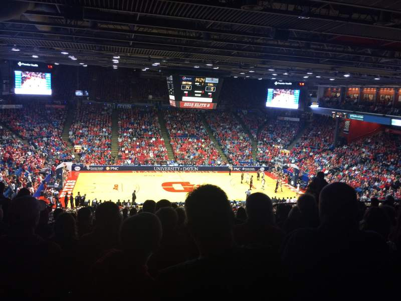 Seating view for University of Dayton Arena Section 310 Row K Seat 9