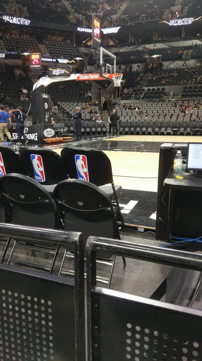 Seating view for AT&T Center Section 10 Row 4 Seat 6