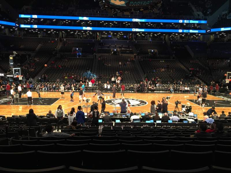 Seating view for Barclays center Section 8 Row 13 Seat 15