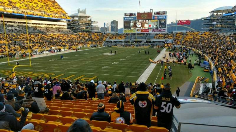 Seating view for Heinz Field Section 125 Row EE Seat 12