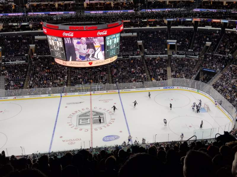 Seating view for Staples Center Section 301 Row 15 Seat 10