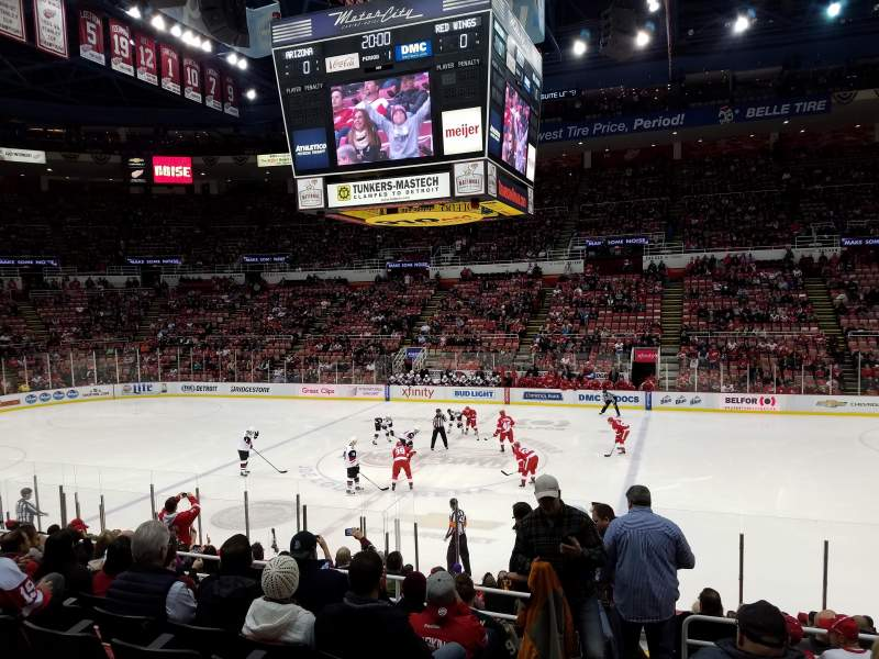 Seating view for Joe Louis Arena Section 106 Row 15 Seat 15