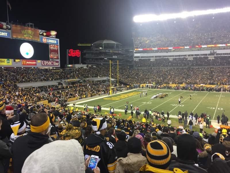 Seating view for Heinz Field Section 109 Row CC Seat 3