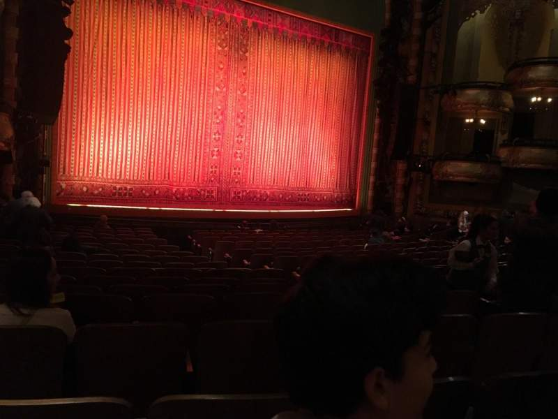 Seating view for New Amsterdam Theatre Section Orchestra L Row R Seat 11