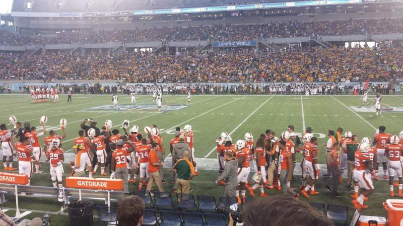 Seating view for Camping World Stadium Section 107 Row D Seat 5 and 6