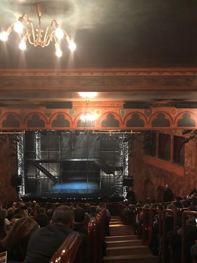 Seating view for August Wilson Theatre Section Rear mezz Row Q Seat 102