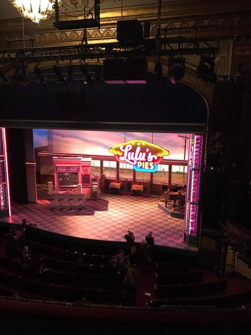 Seating view for Brooks Atkinson Theatre Section Rear mezzanine rc Row K Seat 109
