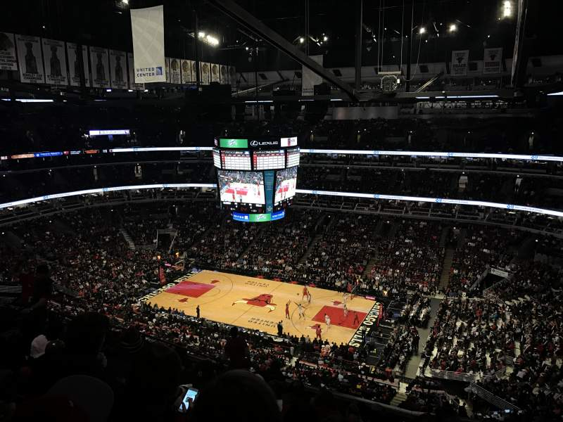 Seating view for United Center Section 332 Row 14 Seat 12