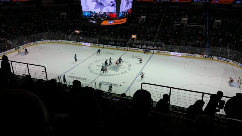Seating view for SAP Center at San Jose Section 214 Row 9 Seat 2