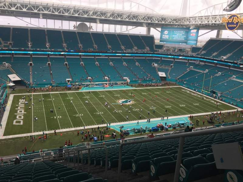 Seating view for Hard Rock Stadium Section 350 Row 29 Seat 2