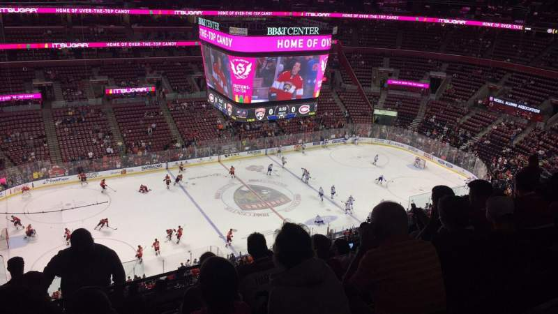 Seating view for BB&T Center Section 303 Row 10 Seat 19