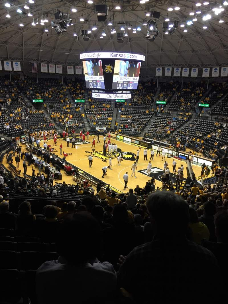 Seating view for Charles Koch arena Section 118 Row 32 Seat 19