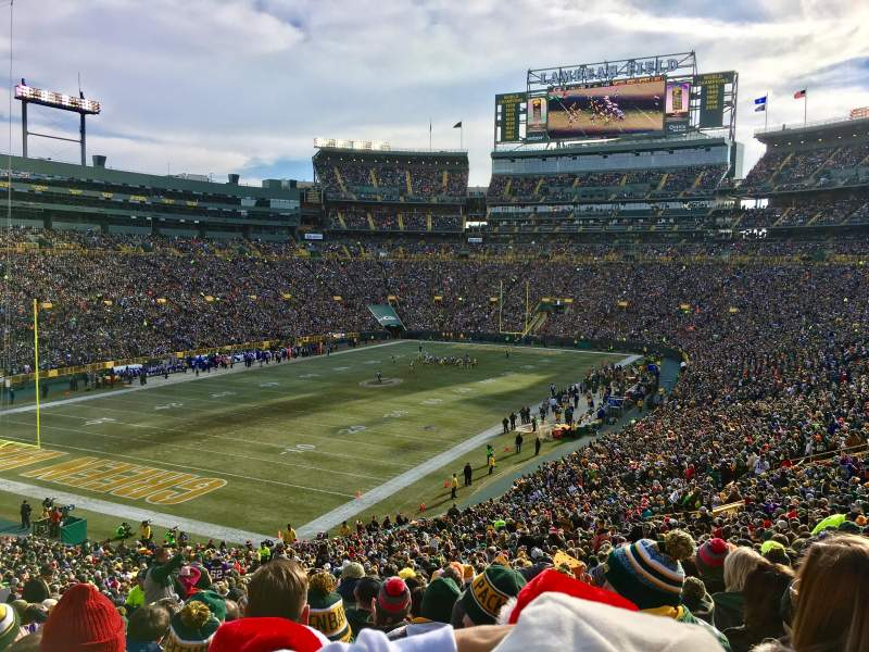 Seating view for Lambeau Field Section 108 Row 55 Seat 50