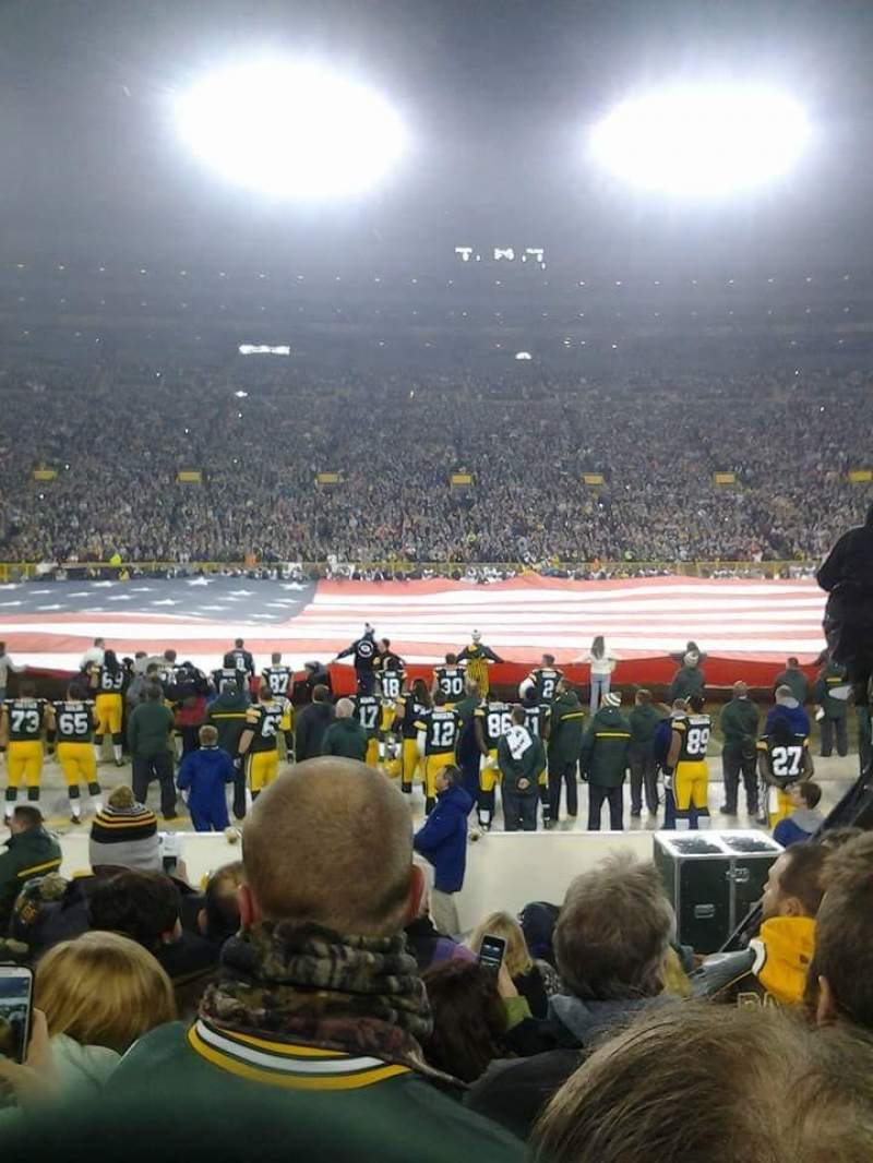 Seating view for Lambeau Field Section 118 Row 7 Seat 9