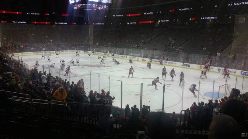 Seating view for Prudential Center Section 11 Row 16 Seat 2