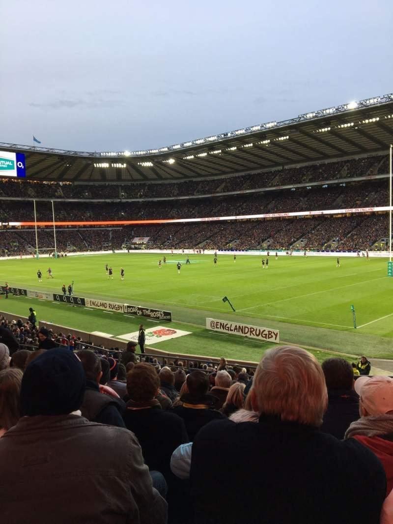 Seating view for Twickenham Stadium Section L2 Row 18 Seat 129
