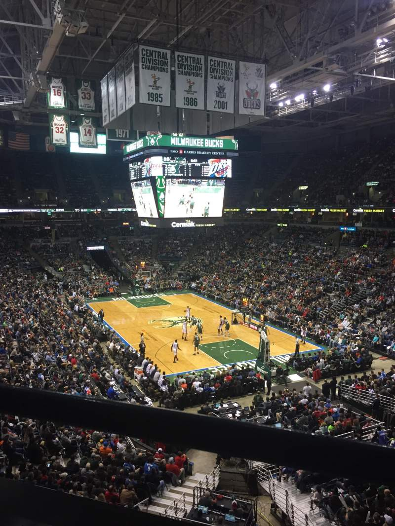 Seating view for BMO Harris Bradley Center Section 437 Row A Seat 5