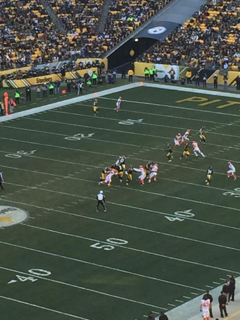 Seating view for Heinz Field Section 504 Row G Seat 4