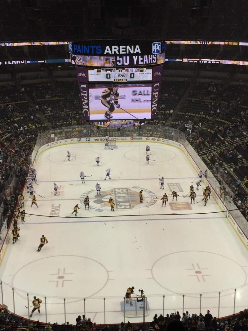 Ppg paints arena section 228 row m seat 14 pittsburgh for Hotels close to ppg paints arena