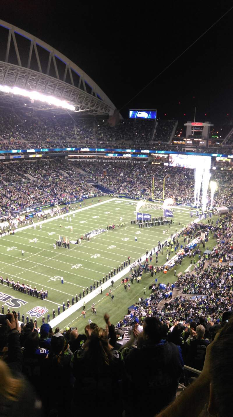 Seating view for CenturyLink Field Section 344 Row W Seat 2
