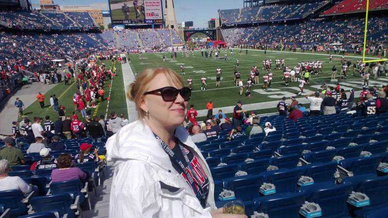 Seating view for Gillette Stadium Section 123 Row 30-35